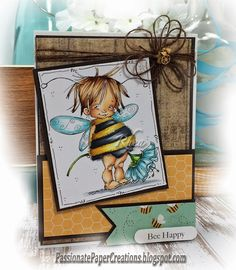 Rhea Weigand: Passionate Paper Creations – Bee Happy - 9/21/14 (MoManning digi: Baby Bee Fairy)