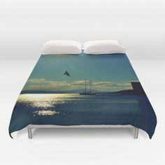 Free Shipping & $10 Off Duvet Covers  Please Use My Promo Link http://society6.com/gzmguvenc?promo=be5553 Bodrum Scenery Duvet Cover