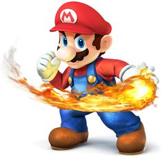 Mario with Fireball---Super Smash Bros. for 3DS and Wii U Art & Pictures