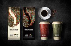Graphic design for a coffee brand