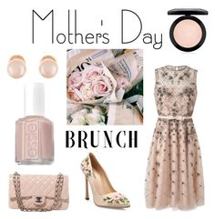 """""""mothersday brunch"""" by blackswan2712 ❤ liked on Polyvore featuring Valentino, Giambattista Valli, Chanel, MAC Cosmetics, Kenneth Jay Lane, Essie and MothersDayBrunch"""