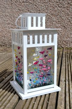 Handmade Fused Glass Art Wildflower Lantern Glass Artwork, Sea Glass Art, Glass Wall Art, Mosaic Glass, Stained Glass, Glass Fusion Ideas, Glass Fusing Projects, Fused Glass Jewelry, Etsy