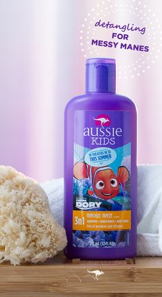 Aussie Mango Mate 3N1- When long days of summer play have your child's hair feeling greasy and tangled, here's your best friend for keeping bath time fun and painless. Aussie Kids Mango Mate 3N1 Shampoo, Conditioner, and Body Wash cleans those wild little manes with a fun mango scent and is tough on knots but gentle on kids. This time-saving three in one formula is free of parabens and silicones. So lather up, lather in and rinse off - it's head to toe clean & manageable hair without the…