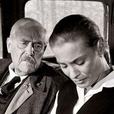 Victor Sjöström & Bibi Andersson in Ingmar Bergman's (Swedish) film - Wild Strawberries (1957) #ingmarbergman #victorsjostrom #film #bibiandersson #wildstrawberries