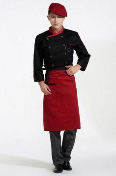 New Kitchen Chef Uniform White ,Purple, Black Chef Clothes, Meals Companies Coats Wo. Chef Clothing, Hotel Uniform, Restaurant Uniforms, Staff Uniforms, Uniform Design, Work Wear, Chef Jackets, Plus Size, Incheon