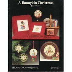Bunnykin Christmas Vintage Bunny Rabbit Cross Stitch Patterns