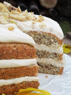 Live to Bake: Karamelovo-orechová torta s banánmi Krispie Treats, Rice Krispies, Vanilla Cake, Tiramisu, Banana Bread, Baking, Ethnic Recipes, Live, Food