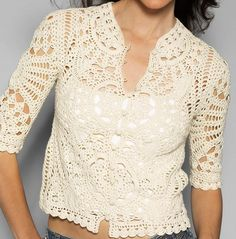 Cardi out of doilies