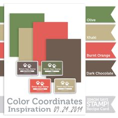 Gorgeous Inspiration from this Simon Says Stamp Color Coordinates by Shari Carroll. Stamptember 2014