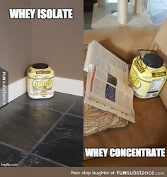 Whey isolate and concentrate