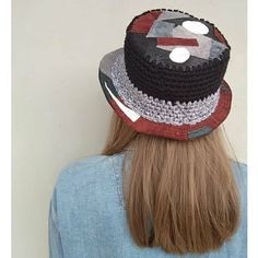 One of a kind, Handmade, Unique, Unisex, Reversible Hat from Leather and Wool Head Accessories, Winter Accessories, Crochet Bracelet, Crochet Earrings, Turban Hat, Handcrafted Jewelry, Handmade, Winter Hats For Women, Head Wraps