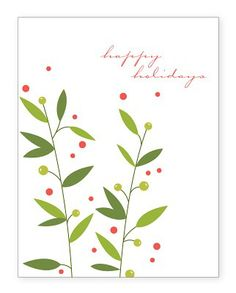 Happy Holidays Filler Card for Project Life