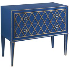 Bassett Mirror Hollywood Glam Selby 2 Drawer Hall Chest