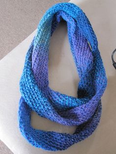 Infinity scarf made on knifty knitter