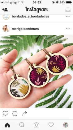Flowery embroidered necklaces by marigold + mars