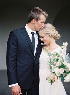 Photographer: Rylee Hitchner | Flowers: Honey of a Thousand Flowers | Bride's Dress: Nancy Barrus | Groom's Suit: Dress Code Custom | Hair & Makeup:  Joanna Ballentine