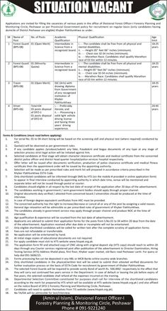 Forestry Planning And Monitoring Cercle Peshawar Jobs 2021