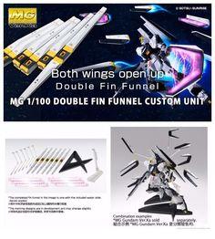 Premium Bandai GUNDAM MG 1/100 Double Fin Funnel Custom Unit Model Kit #Bandai