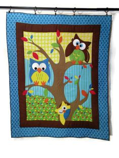 Just listed and won't last long!  Owl Nursery Wall Decor Baby Word Art Quilted Wall by ModernArras