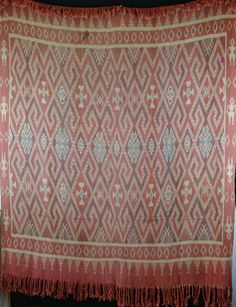 Handwoven Ikat from North Sulawesi, approx 50 years old. 130cm x 180cm. http://worldbasket.co.uk/product-category/antique-and-vintage-textiles/