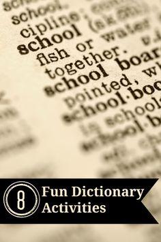8 Fun Dictionary Activities | Minds in Bloom