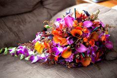 #bouquet #orangeandpurple #wedding