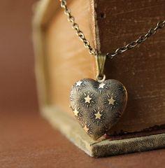 Seeing Stars- Mini Heart Locket Necklace