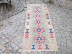 "50 % OFF! HANDMADE TURKISH KILIM RUNNER, 280 x 80 cm ( 110 "" x 31 "" )"