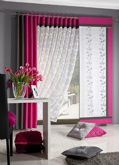 Curtains And Draperies, Elegant Curtains, Printed Curtains, Cool Curtains, Curtain Styles, Curtain Designs, Bedroom Themes, Bedroom Decor, Home Furnishing Stores
