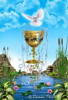 by Roxana Paul Ace of Cups, The Sacred Mysteries of Babylon Tarot