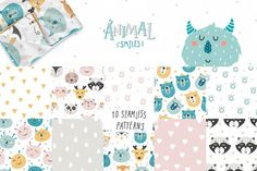 Children's patterns Bundle by tatiletters on @creativemarket