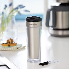 Starbucks - A customizable stainless steel tumbler with marker for unleashing your imagination.