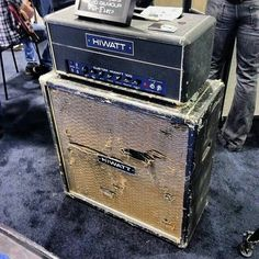 David Gilmour Hiwatt half-stack. Road use weary, but still sounds great.