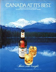 """Description: 1979 CANADIAN MIST vintage magazine advertisement """"Canada at its best"""" -- Canada at its best ... Light. Smooth. Imported Canadian Mist. The whisky that's becoming America's favorite Canadian. ... Share some tonight. -- Size: The dimensions of the full-page advertisement are approximately 10.25 inches x 13 inches (26 cm x 33 cm). Condition: This original vintage full-page advertisement is in Excellent Condition unless otherwise noted."""