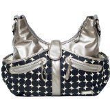 JJ Cole Collections Swag Diaper Bag-Silver Drop