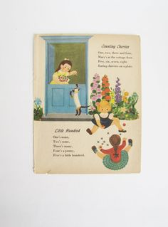 Vintage Nursery Decor. Poetry. POEMS / wall art. by DDbuttons, $6.00