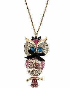 Owl necklace Betsey Johnson