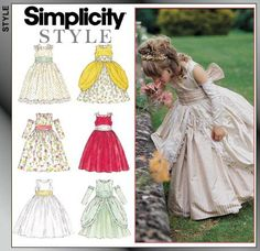 Simplicity 8953 from Simplicity patterns is a Child Dress sewing pattern….maybe one day Simplicity 8953 from Simplicity patterns is a Child Dress sewing pattern…. Little Girl Dresses, Girls Dresses, Flower Girl Dresses, Flower Girls, Flower Girl Dress Patterns, Pattern Flower, Carnaval Costume, Princess Dress Patterns, Kind Mode