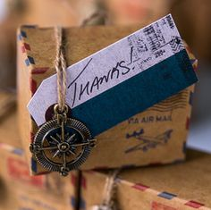 Vintage Inspired Airmail Favor Box Kit. Save 15% right now. Use promo code MWS15.