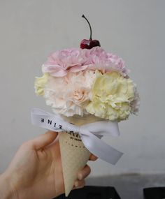 Carnation ice cream cone.