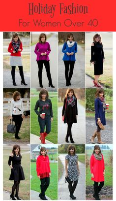 Holiday fashion inspiration - fashion for women over 40