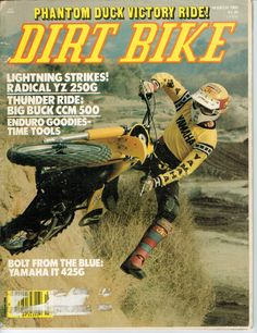 Mar 80 Dirt Bike Motorcycle Magazine Yamaha YZ250 CCM500 Yamaha IT425 Suzuki RM | eBay
