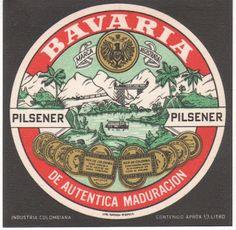1970 Etiquetas de Cervezas Colombianas: BAVARIA