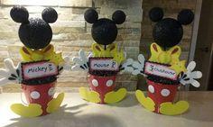 Mickey Mouse centro de mesa / centros de por mariscraftingparty