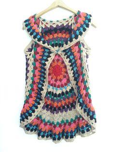 Free Crochet Mandala Vest Pattern | Crochet PATTERN for Women's Mandala Vest on Etsy, $6.00