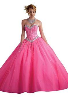Dearta Women's Sequin Crystal Ball Gown Quinceanera Dress Gowns Pink US 6 Pink Dearta http://www.amazon.com/dp/B00VK20O8A/ref=cm_sw_r_pi_dp_ILm4vb0GGG7HE