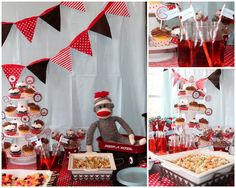 This vintage Sock Monkey Baby Shower is an adorable theme for a baby boy. Easy to plan and full of vintage finds, it's the perfect way to welcome baby.