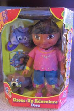 Rare Fisher Price DORA The Explorer DRESS - UP ADVENTURE Set NEW in Box 2003  #FisherPrice