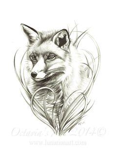 Fox Print Fox Art Foxy Fox Limited Edition by Lunarianart, £9.95