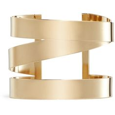 Isabel Marant Three line brass cuff (860 CAD) ❤ liked on Polyvore featuring jewelry, bracelets, jewels, metallic, cuff bangle, brass bracelet, isabel marant, bracelet bangle and gold tone jewelry